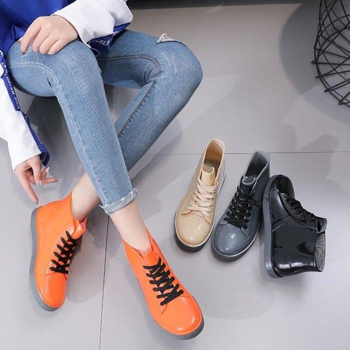 雨靴 時尚女百搭女短筒成人水靴馬丁靴套防滑水鞋