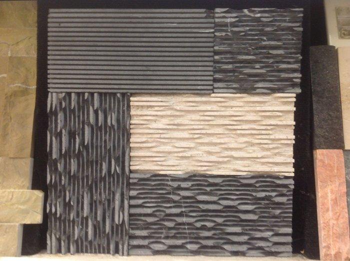 TKS台中市北區光南精緻工程行~鋸溝人工敲鑿面石材(多種石材可訂購)
