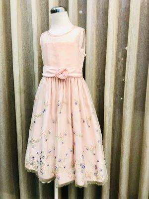 Cinderella special occasion dress 典雅氣質款 縷花 刺繡 粉色禮服 (6X)