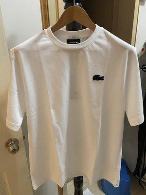 Lacoste X mastermind JAPAN 骷顱頭 聯名網眼圓領白色T恤 日本製 MADE IN JAPAN