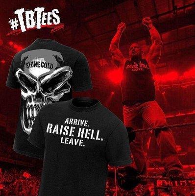 [美國瘋潮]正版WWE Stone Cold Raise Hell Retro Tee SCSA經典出擊骷髏頭復刻款衣服