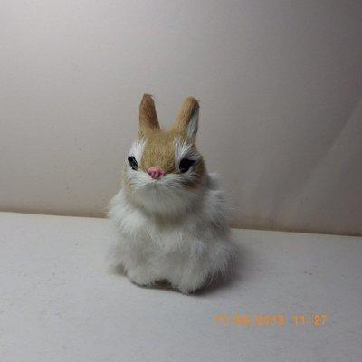 紫晶宮***單隻兔子高11.5cm白黃色***品質保證價格便宜