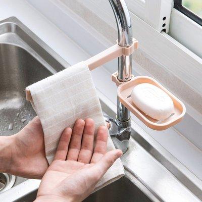 免打孔水龍頭瀝水置物架 水槽海綿抹布瀝水架 浴室水龍頭架 收納架 置物架 廚房用品【RS796】