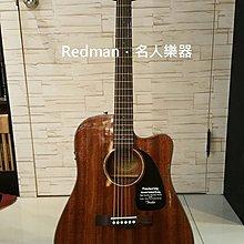 【名人樂器】FENDER CD-60CE  All Mahogany  全桃花心木 可插電 民謠吉他 附Case
