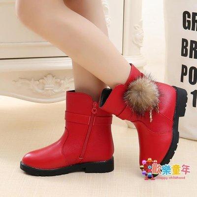 3歲11女孩子女童鞋7冬款6棉鞋5公主皮鞋中筒靴4馬丁靴10刷毛加厚8