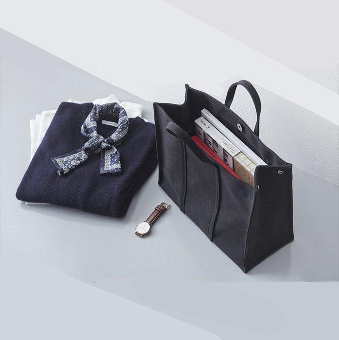 外銷款-簡約商務公文包帆布手提文件包百搭休閒學生書包A4文件袋