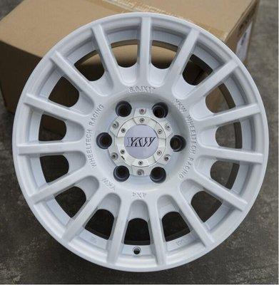 YKW 品牌4X4精品JIMNY吉米專用鋁圈16吋7J 5孔139.7 ET0 中心孔110 白色