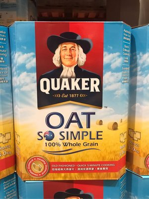 Costco好市多 QUAKER 桂格經典大燕麥片 3kg  whole oats