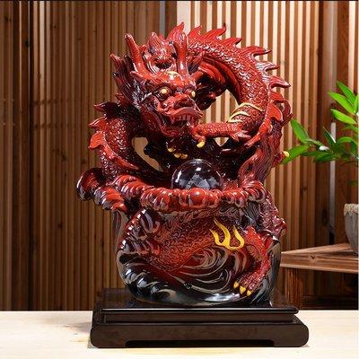 5Cgo【宅神】中式陶瓷十二生肖大號龍...