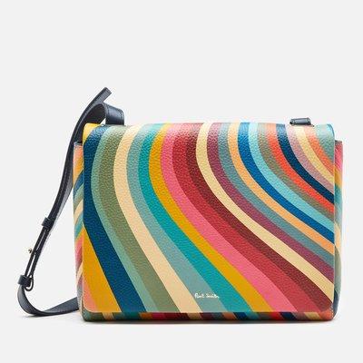 代購Paul Smith Swirl Medium Shoulder Bag休閒經典時尚彩虹條紋斜背包