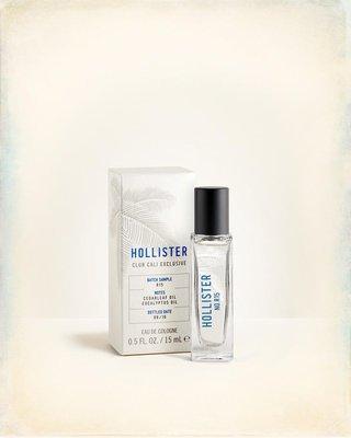 ☆【HCO男生館】☆【HOLLISTER Batch Sampl R15香水】☆【HCL001F1-15】15ML