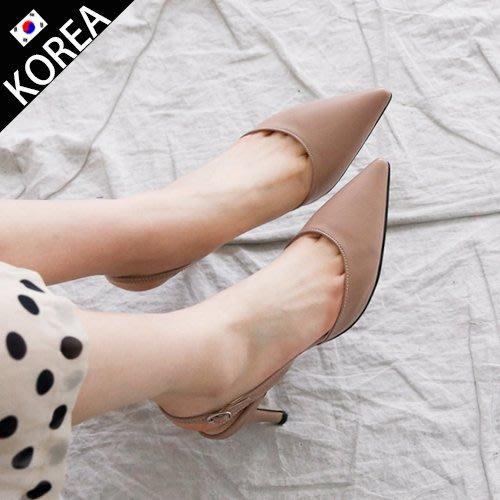 DG韓系鞋坊-正韓 韓國空運 性感尖頭高跟鞋 跟鞋 粗跟顯瘦好穿 約會跑趴 簍空跟鞋 涼鞋【20S0060】現貨+預購