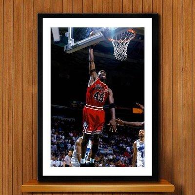喬丹jordan裝飾畫男孩臥室客餐廳NBA球星壁掛牆畫海報(9款可選)