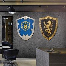 百年傳奇復古鐵藝武士盔甲盾牌酒吧餐廳kTV咖啡廳牆面裝飾創意歐式挂件