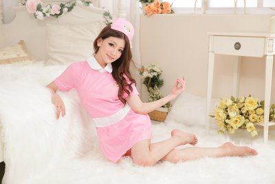 Sexy Nurse costumes Sleepwear Nightdress Quần áo giúp việc