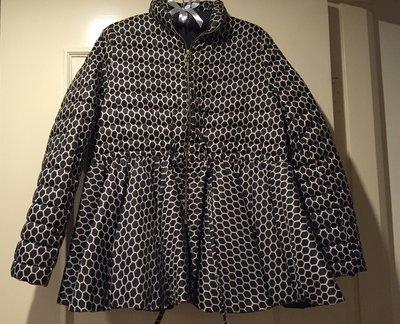 設計師款羽絨外套 下擺好似裙擺設計 內鋪羽絨和cashmere 黑色好搭