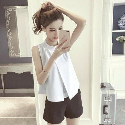 夏季女裝新款時尚氣質純色百搭開叉燕尾式...