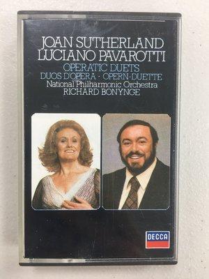 OPERATIC DUETS 歌劇二重唱  瓊.蘇莎蘭 / 帕華洛帝 卡帶 錄音帶 多年收藏