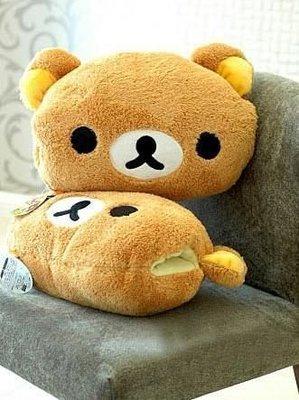 【Ziga*里家】☆Rilakkuma 可愛輕鬆熊.拉拉熊暖手枕.抱枕.靠墊.暖手悟.禮物~☆棕熊現貨