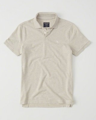 Maple麋鹿小舖 Abercrombie&Fitch * AF 麥色電繡小麋鹿POLO衫* ( 現貨XL號 )