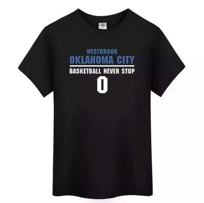🔥威少Russell Westbrook短袖T恤上衣🔥NBA雷霆隊Nike耐克愛迪達運動籃球服T-shirt男485