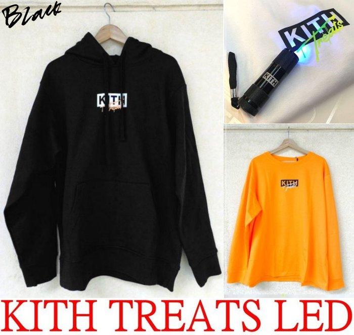 BLACK全新KITH TREATS紫外線變色LOGO東京限定Halloween萬聖節限定LED短T (另有帽T長T)