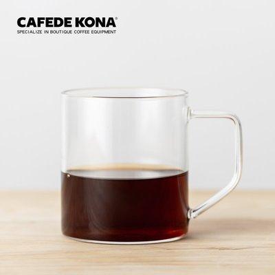 玻璃咖啡杯杯子水杯茶杯家用透明杯辦公耐熱帶把杯 優品百貨