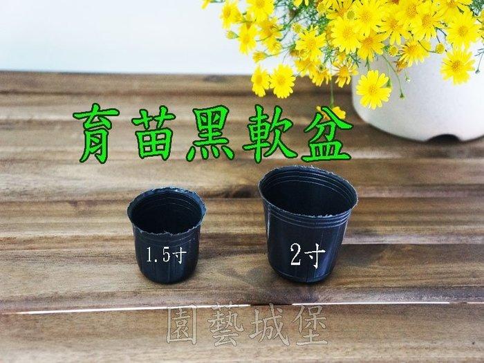 【園藝城堡】 1.5寸黑軟盆100個/組