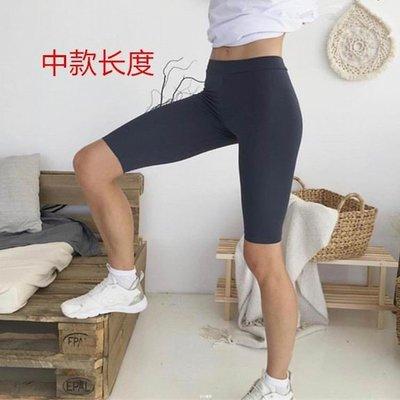 歐美風高腰顯瘦高彈力五分褲女跑步運動休閒瑜伽緊身練舞短褲   全館免運 全館免運