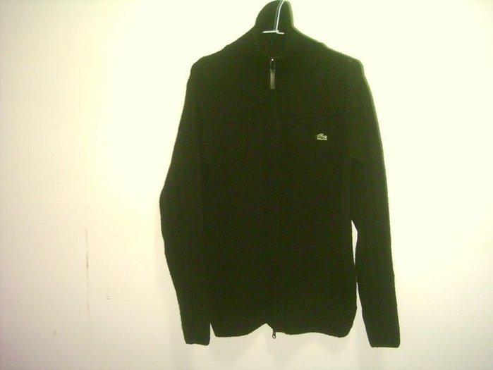 Lacoste 黑色薄毛衣外套  3號