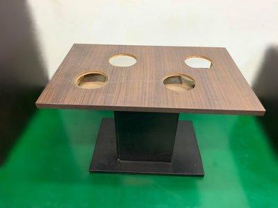 二手家具推薦【宏品二手家具】全新二手傢俱買賣E120202*長方4孔火鍋桌*2手桌椅拍賣 會議桌椅 戶外休閒桌椅 課桌椅