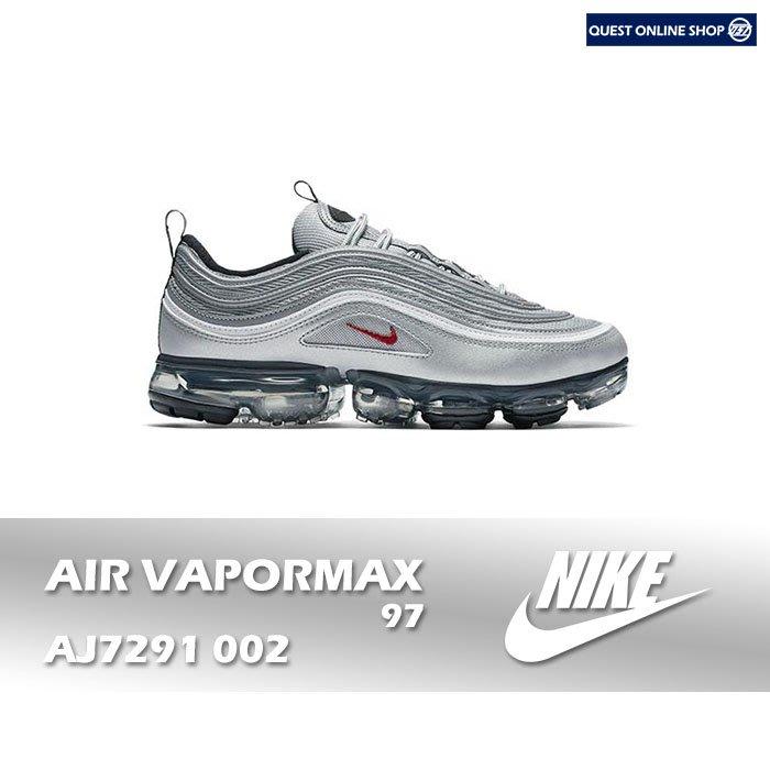 【QUEST】NIKE AIR VAPORMAX 97 銀彈 透明 氣墊 3M 反光 男鞋 慢跑 AJ7291 002