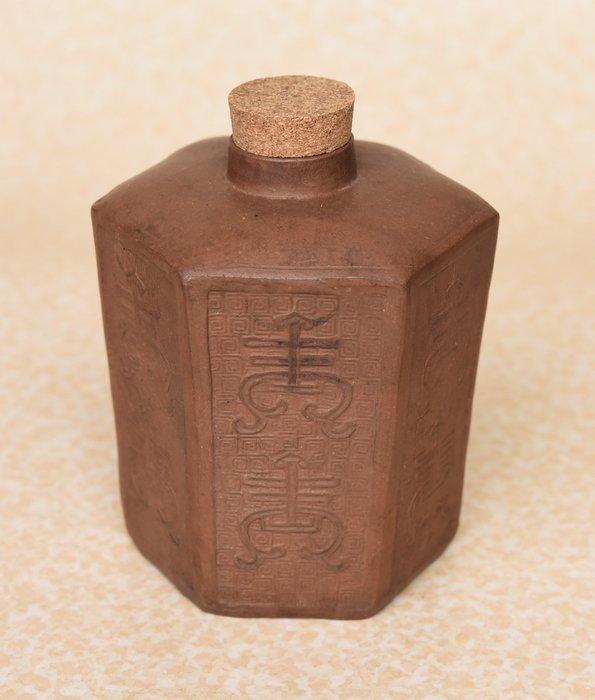 ※爸爸的遺物※清乾隆 紫砂壽字 茶倉