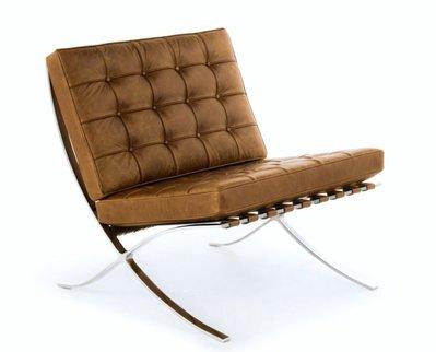 【台大復刻家具】 巴塞隆納沙發 Barcelona Chair / Sofa 拉扣沙發【#304不鏽鋼+義大利油染皮】