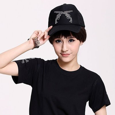 章魚球百貨【0803064】雙槍鑲鑽網帽情侶帽子(另有 毛線帽子 針織帽 遮陽帽 棒球帽 鴨舌帽