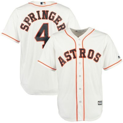 George Springer Majestic White Home Cool Base Player Jersey