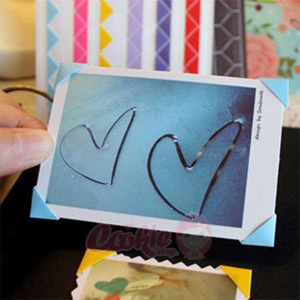韓國文具 絢彩照片裝飾角貼紙(102枚入)【庫奇小舖】不挑色【W45】