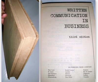 【絕版_商業行銷】7成新 精裝本《WRITTEN COMMUNICATION IN BUSINESS》Third Ed