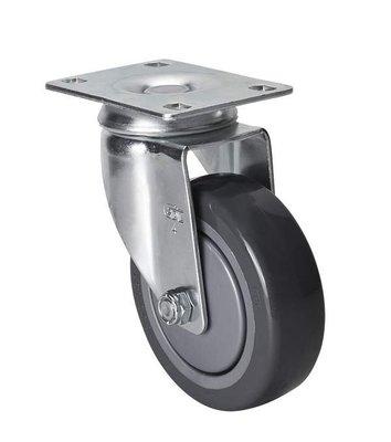 港灣之星-腳輪 中型4寸130Kg平頂萬向聚氨酯(PU)腳輪 57114-574-77 嘉義市