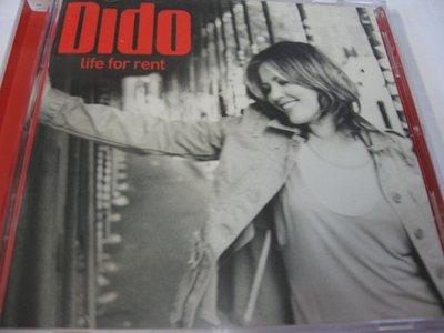 蒂朵 Dido~ Life for Rent 自藏CD 美國版 2003年Arista出品 美國製