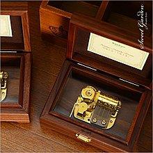 Sweet Garden, 日本Sankyo機芯 23音梳高音質 高級核桃木音樂盒 純手工打造 台灣製 送刻字