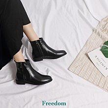 Freedom女鞋粗跟靴子女春秋2018新款正韓小跟短靴英倫學生百搭短筒ins馬丁靴