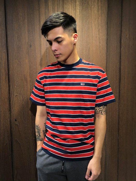 美國百分百【全新真品】 Tommy Hilfiger T恤 TH 男衣 短袖 T-shirt LOGO 條紋 AI25
