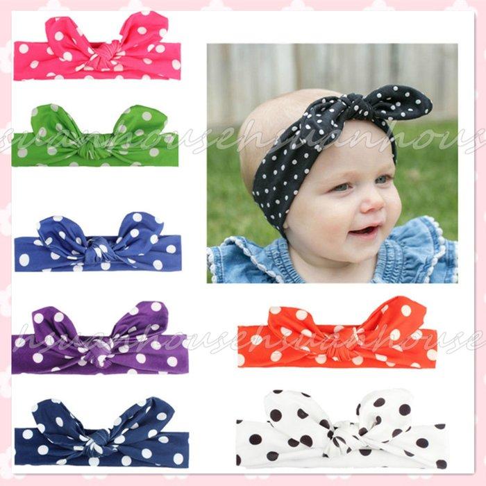 點點 蝴蝶結 寶寶髮帶 髮飾 嬰兒 頭飾 頭花 兒童髮帶