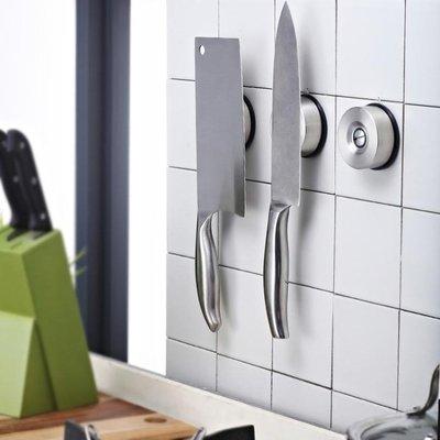 TISION菜刀架304不銹鋼刀架廚房用品壁掛磁性刀座吸鐵石QQSHG