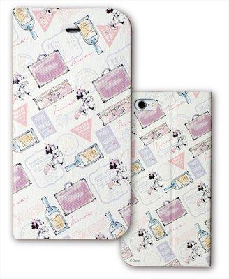 尼德斯Nydus~* 日本正版 迪士尼 米妮 可立式 翻頁皮套 手機殼 4.7吋 iPhone6 旅行款