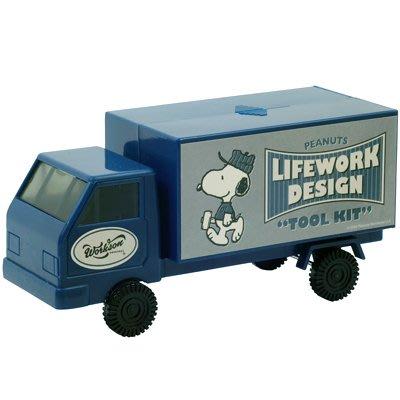 哈哈日貨小舖~日本 代購 SNOOPY 史努比 PEANUTS Lifework Design 螺絲起子 工具組 卡車