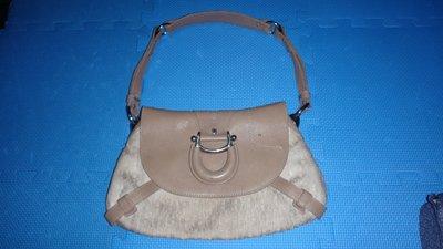 ~保證真品 Aigner 褐色單寧布和真皮款肩背包 大方包 手提包~便宜起標無底價標多少賣多少 台北市