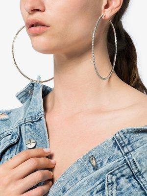 AREA  銀色  水晶  耳環