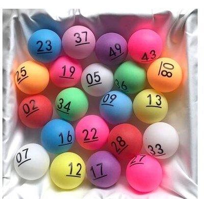 抽獎球 數字乒乓球 號碼球 招標 搖號球 摸獎球 抽獎道具 乒乓球